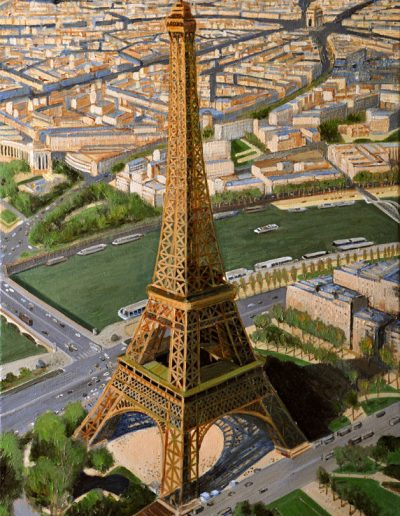 69 Eiffel Tower Air View 1 – Price 1800 € SOLD