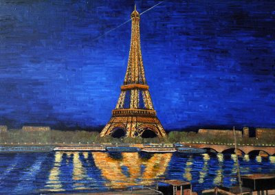 75 Shining Eiffel Tower At Night – Price 1100 €